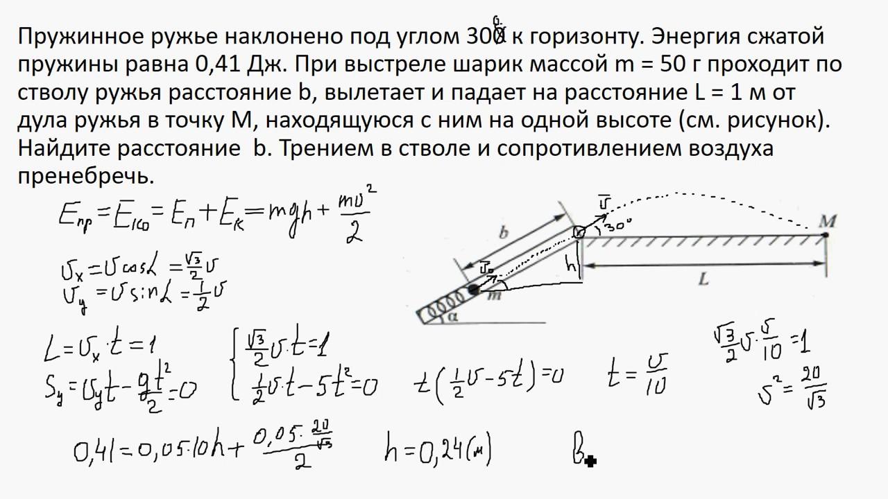 Решение задач закон сохранения механической энергии репетиторы помощь при сдаче экзамена