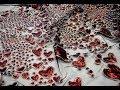 Поделки - Вышивка на сетке сердечками из пайеток Италия коллекция 2019