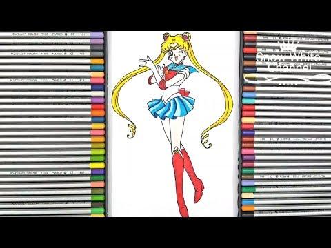 Hướng dẫn vẽ Thủy Thủ Mặt Trăng đơn giản – How to draw sailor moon – Thủy thủ mặt trăng Sailor moon