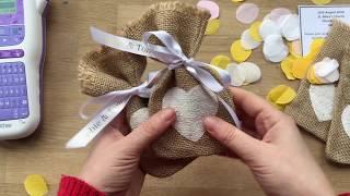 Wie erstellen Sie eine individuelle Hochzeit Einladungskarten mit Brother P-touch-Handwerk, Band & Label-Drucker
