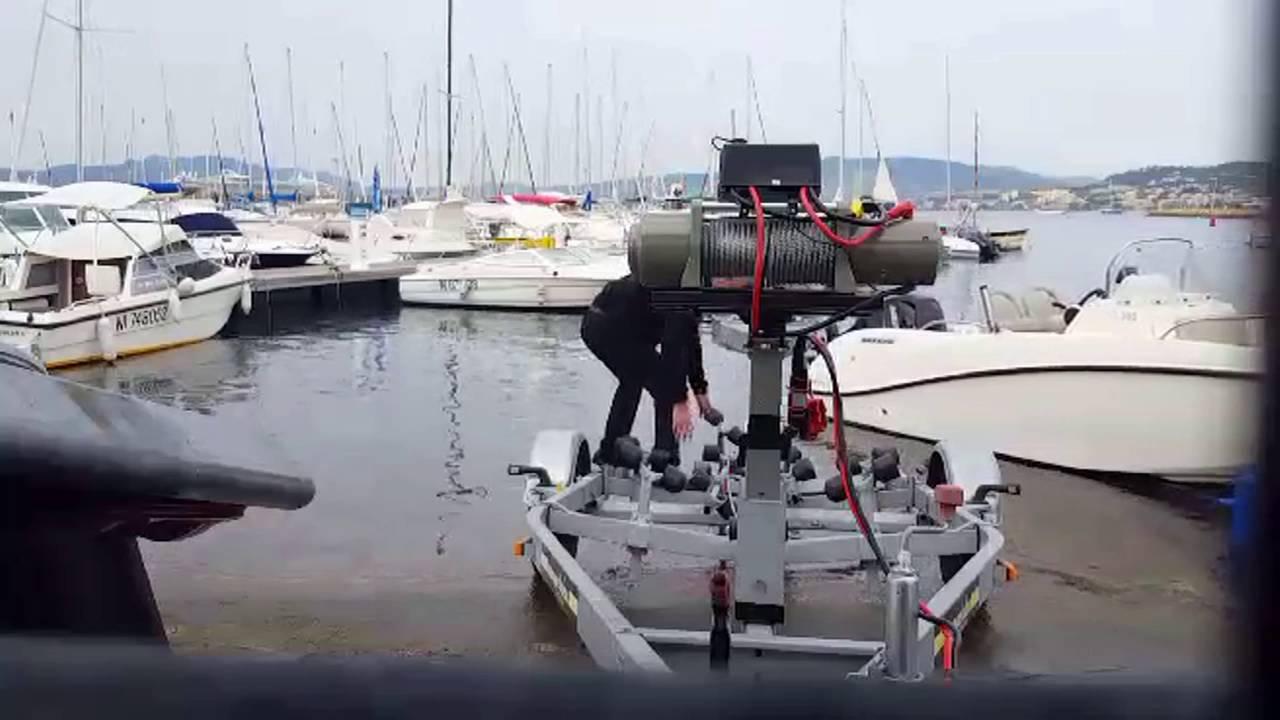 taille 40 matériau sélectionné vraie qualité Treuil 12 volts sur remorque bateaux