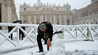 Vague de froid en Europe
