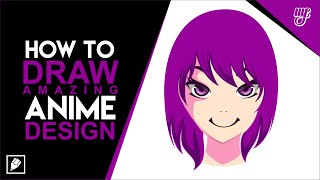 How To Drawing an Anime Cartoon in CorelDraw #1