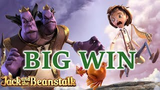 Jack and the Beanstalk online slot by Netent. Big win
