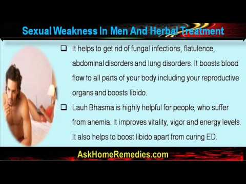 what causes sexual weakness