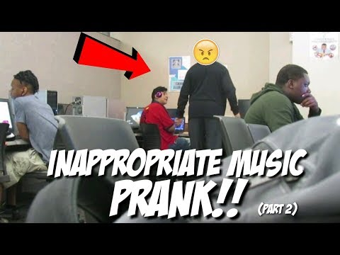 Blasting INAPPROPRIATE Music In College PRANK!!! (PART 2)