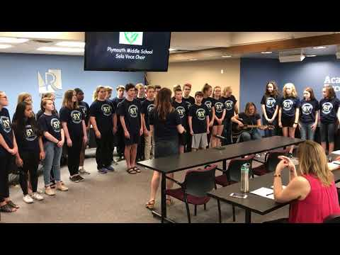 Plymouth Middle School Solo Voce choir