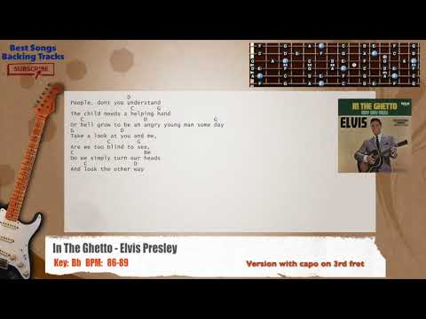 In The Ghetto - Elvis Presley Guitar Backing Track with chords and lyrics