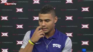 TCU quarterback Kenny Hill talks getting better, working on foot work and becoming a leader