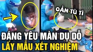 Nhân viên y tế 'CHƠI OẲN TÙ TÌ' dỗ bé gái để 'LẤY MẪU' xét nghiệm nhận mưa tim