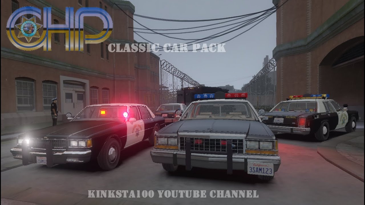 Gta 4 Chp Classic Police Cars Els V8 Drot Youtube