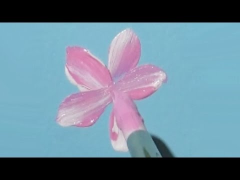 Painting EASY Cherry Blossoms with Acrylic Paint  Real Time Demo