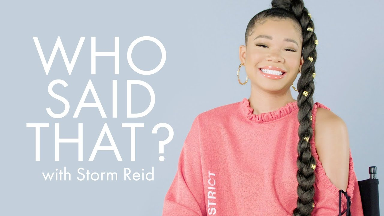 We Quizzed Euphoria Star Storm Reid on Her Famous Co-Stars Lupita Nyong'o, Brad Pitt, & More | ELLE