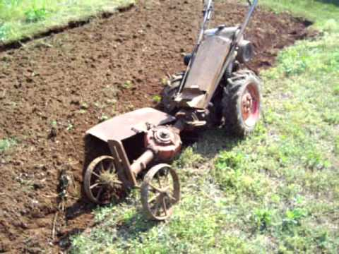 1957 Gravely Li With Gear Reduction Wheels And Rotary Plow