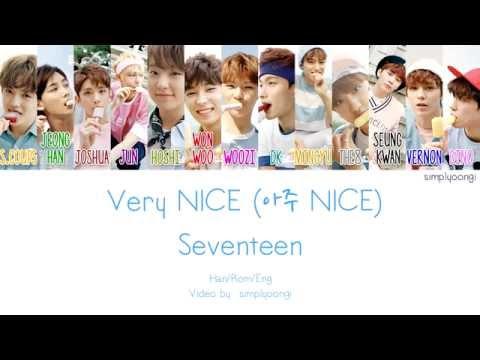 SEVENTEEN [세븐틴] - Very NICE [아주 NICE] (Color Coded Lyrics   Han/Rom/Eng)