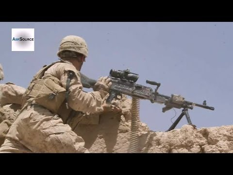 U.S Marine Clearing Taliban Stronghold