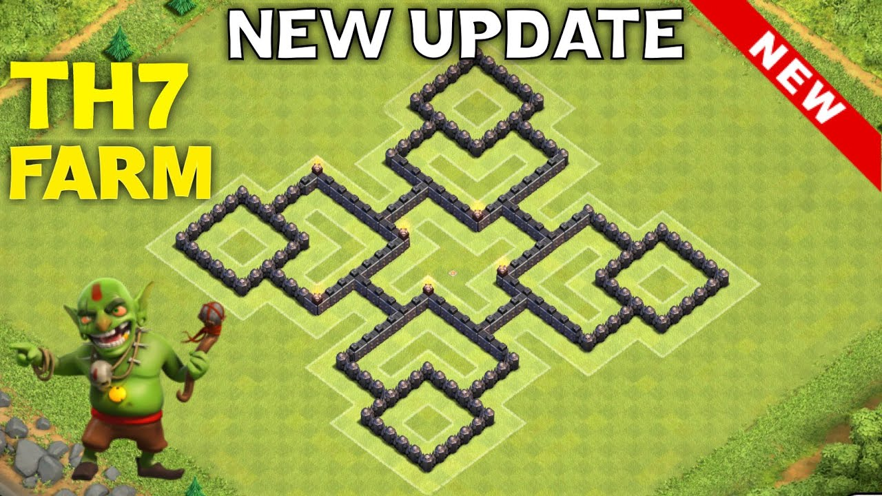 Th7 hybrid base for new update th11 december update town hall 7