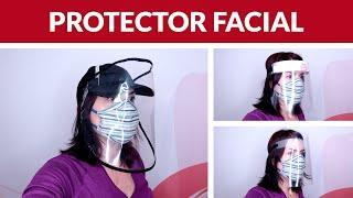 Cómo hacer PROTECTOR FACIAL CASERO FÁCIL, MÁSCARA FACIAL