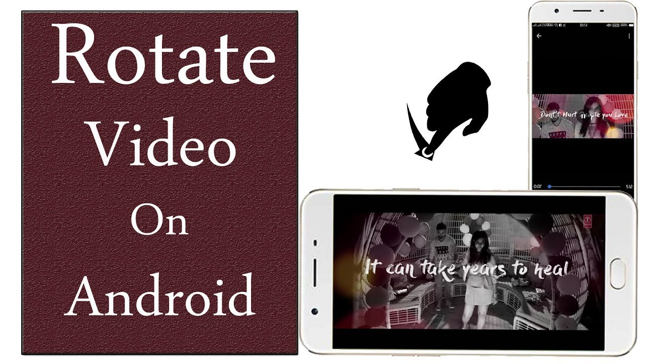 how to rotate a video on android phone