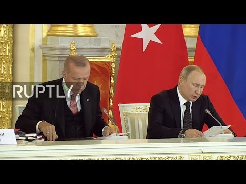 LIVE: Putin and Erdogan hold joint press conference in Moscow - Eng