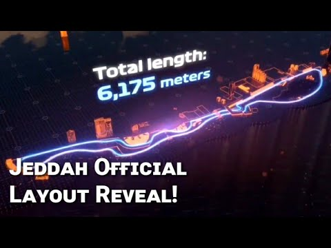 2021 Arabian Grand Prix Track Revealed! - Jeddah Street Circuit Official Layout