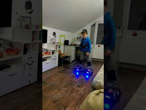 Hoverboard and seven years boy