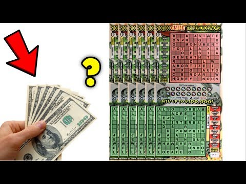 $100K PRIZE CHILE TRIPLER CROSSWORDS TICKETS [ LOTTERY ASMR ] 💰💰💰