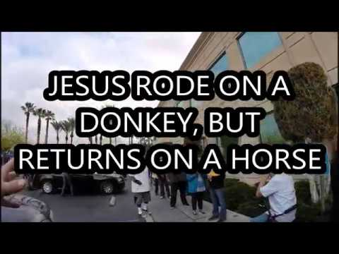 Jesus rode a donkey, but He returns on a horse (an excerpt)