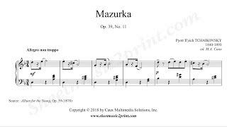 Tchaikovsky : Mazurka Op. 39, No. 11