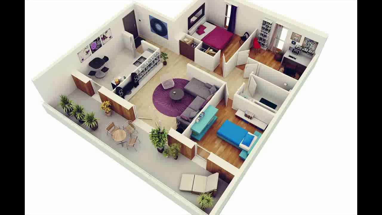 Gambar Denah Rumah Minimalis 1 Lantai 3 Kamar Tidur Youtube