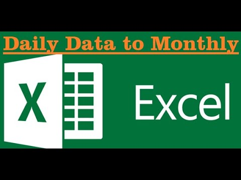 How to convert Daily data to monthly/Yearly/hourly data in Excel