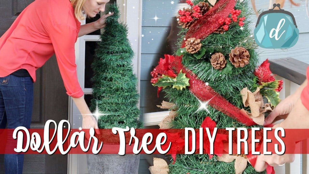 differently 130cd 330fe DOLLAR TREE CHRISTMAS DIYS 🎄 Giant Porch Trees for CHEAP!