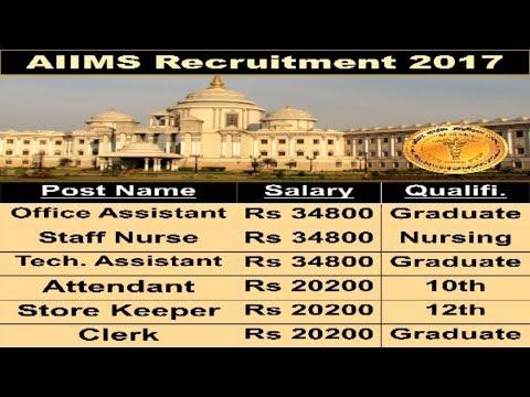 All India Institute of Medical Sciences Recruitment | Latest Govt jobs 2017 | 12th Pass Job