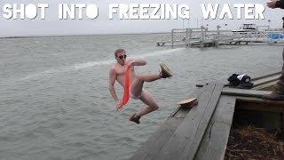 shot into freezing water w funnymenow