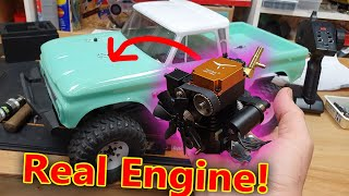 Can I put a REAL ENGINE into a TOY CAR?