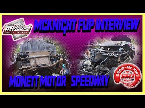 S03➜E448 McKnight Flip Interview Monett Motor Speedway on 9-01-2019