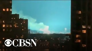 Transformer explosion leads to fire at NYC power plant; lights up night sky