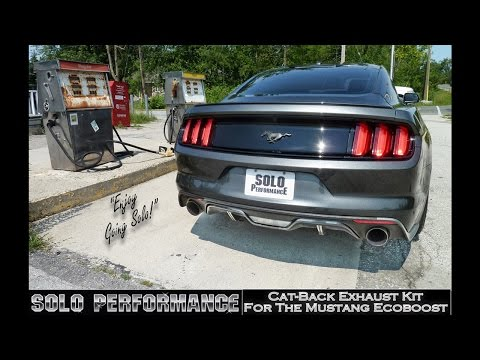 FORD MUSTANG ECOBOOST (2015-PRESENT) SOLO PERFORMANCE CATBACK EXHAUST KIT VIDEO