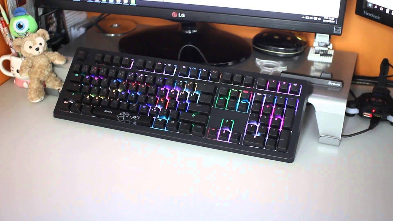 【原價屋】Ducky SHINE5 RGB機械式鍵盤-雨滴模式! - YouTube