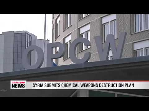 Syria submits chemical weapons destruction plan