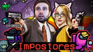 AMONG US:   NIA Y VEGETTA *IMPOSTORES IMPARABLES*