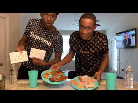RAW Vs COOK FOOD CHALLENGE  PT1