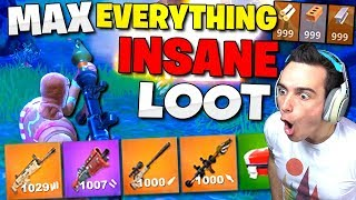 *NEW* Christmas Update GLITCH!! Max EVERYTHING & Insane Loot in Fortnite: Battle Royale