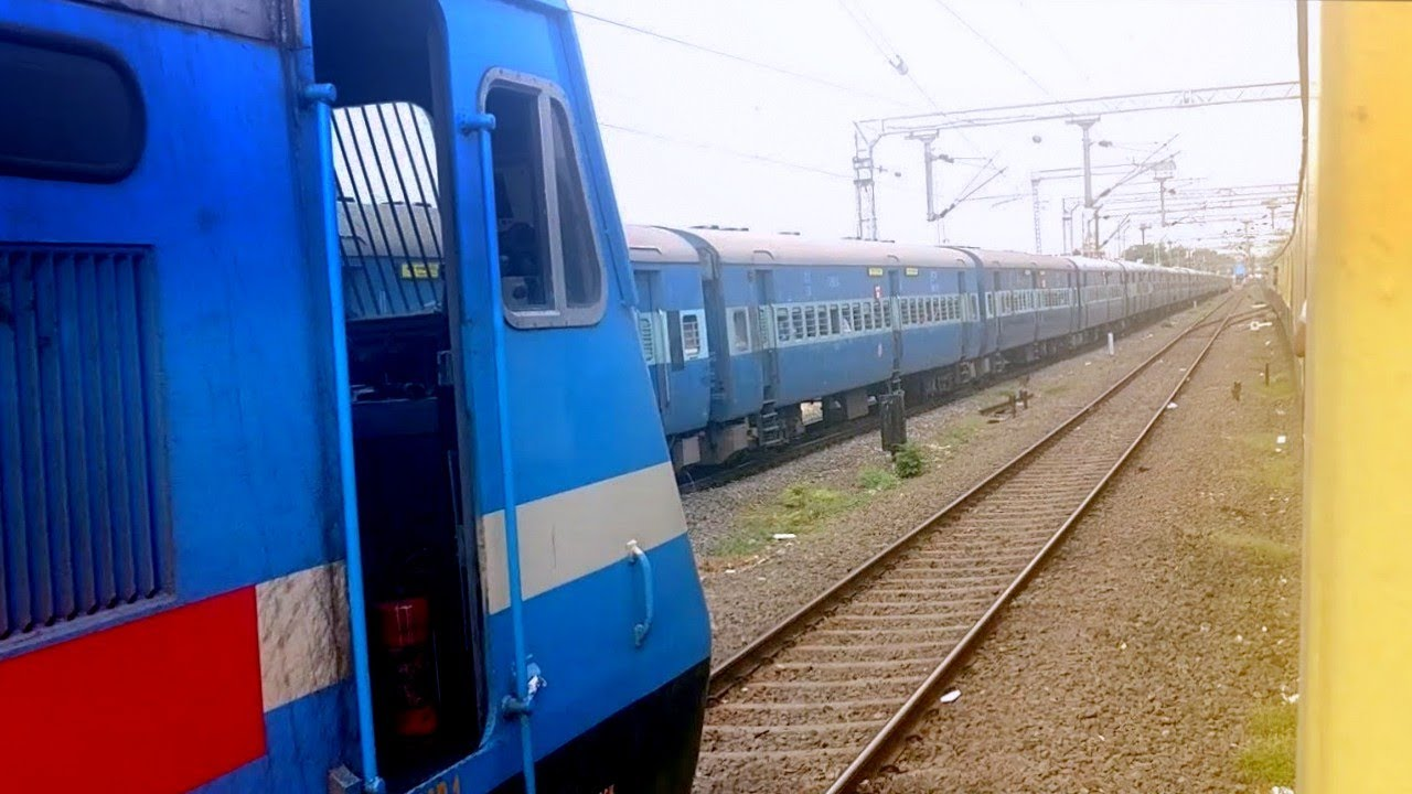 Unbelievable Scenes | Three Trains Racing Parallel Through Chennai | INDIAN RAILWAYS