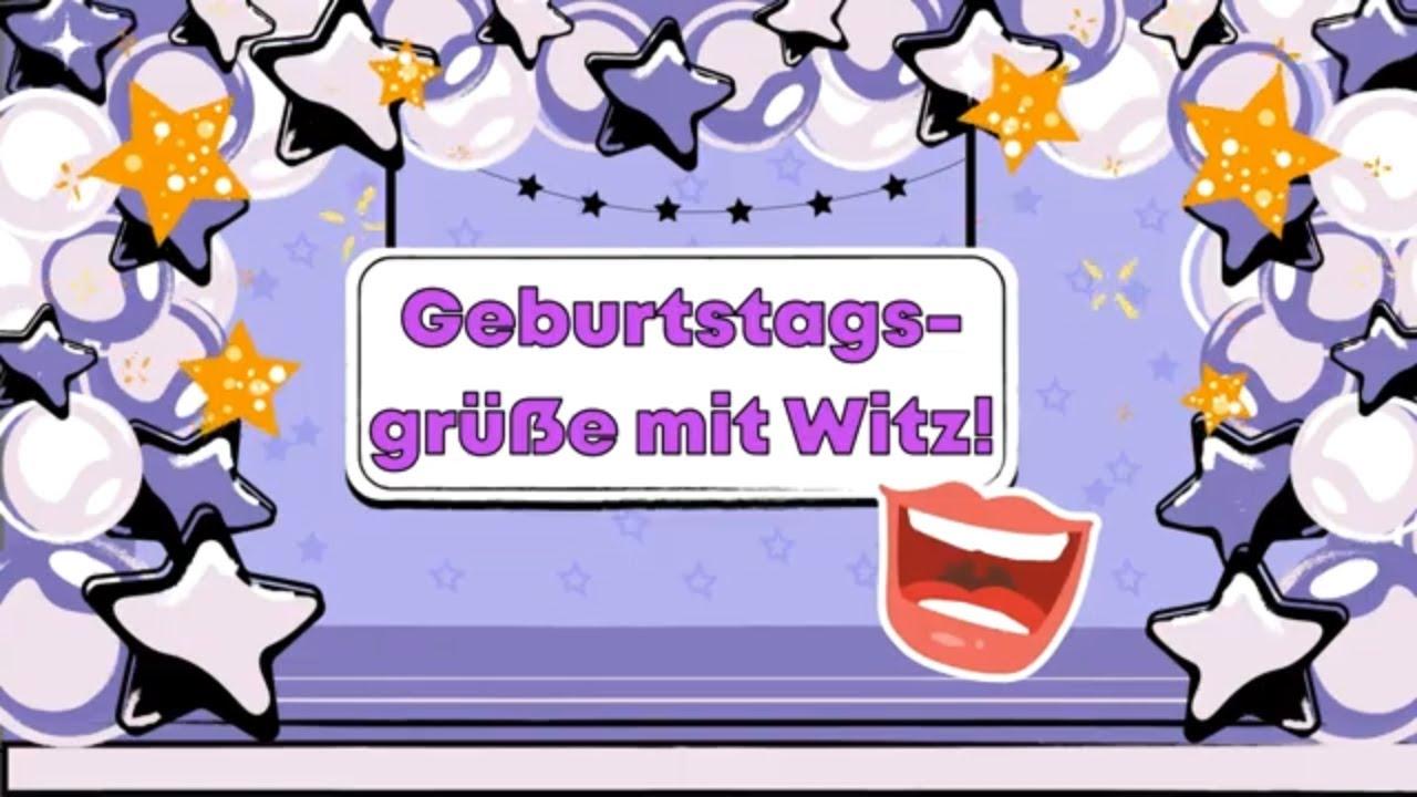 Whatsapp geburtstag video lustig Lustige Geburtstagsgrüsse