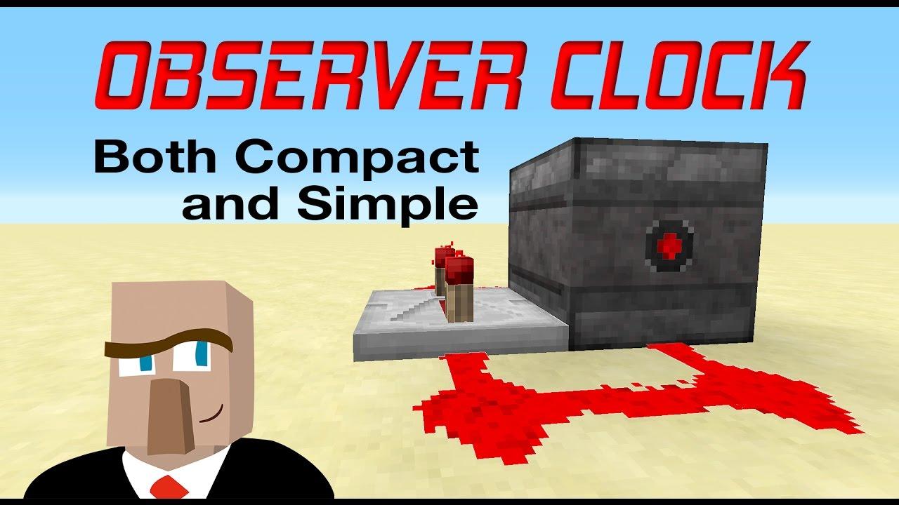 REDSTONE OBSERVER CLOCK : Minecraft Creation Tutorial