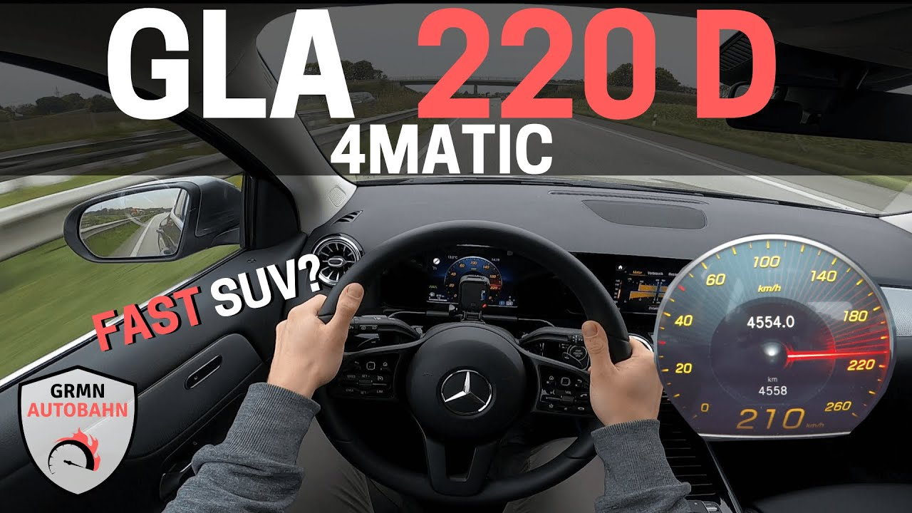 2021 Mercedes GLA 220d 4MATIC 190HP POV H247 | NO SPEED LIMIT Acceleration 0-100 AUTOBAHN (60FPS)