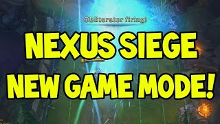 NEW GAME MODE NEXUS SIEGE - AWESOME OFFENSIVE/DEFENSIVE WEAPONS!