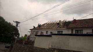 Rekonstrukce střechy 1, tašky,okapy, oplechování komína