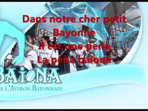 Hymne Aviron Bayonnais + Paroles